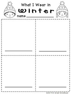 Winter Writing for Kinders. $ Kindergarten writing activities for the winter season.