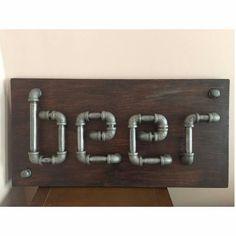Industrial Plumbing Pipe Bar / Mancave Beer by Jonahspipeworks