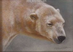 Rebecca Latham - Misty Tundra Polar Bear watercolor painting. Blog - Why Do I Paint Like a Maniac?