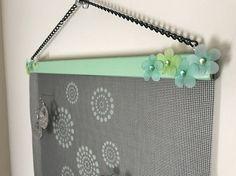 Green Polka Dot Wall Hanging Jewelry Organizer