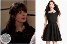 Shop Your Tv: New Girl: Season 2 Episode 20 Jess's Black Peterpan Collar Dress