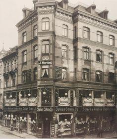 um 1905 Hamburg - Große Bergstraße an der Ecke zur Kleinen Freiheit. ☺