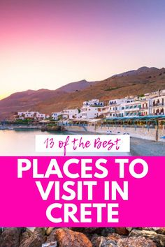 13 Spectacular Places to Visit in Crete: Local Favorites & Hidden Gems - Sofia Adventures Mykonos Greece, Crete Greece, Athens Greece, Santorini, Cool Places To Visit, Places To Travel, Amazing Destinations, Travel Destinations, Greece Islands