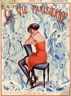 La Vie Parisienne Illustration by George Pavis 1920s