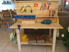 diy werkbank f r kinder diy tutorial workbench for children via werkbank. Black Bedroom Furniture Sets. Home Design Ideas
