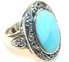 Sweet Blue Larimar Sterling Silver Ring s. 7 3/4