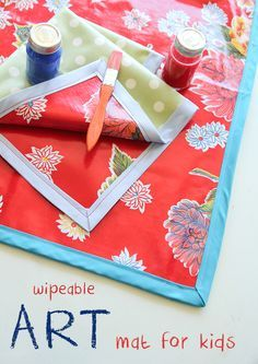 DIY Wipeable Art Mat Tutorial on http://iheartnaptime.com