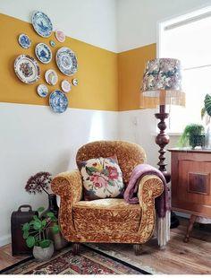 New Living Room, New Room, Living Room Decor, Computer Desk With Shelves, Interior Paint, Interior Design, Estilo Tropical, Home Office Decor, Home Decor