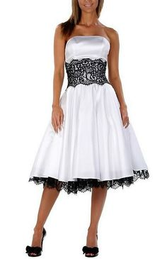white bridesmaid dress with black lace but flip the colors