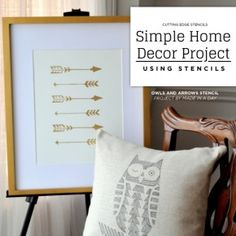 Cutting Edge Stencils shares how to create DIY home decor using stencils. http://www.cuttingedgestencils.com/owls-arrows-allover-stencil-pattern.html