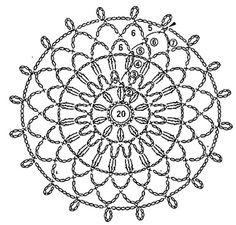 Inspirações de Croche com Any Lucy: Square Crochet Snowflake Pattern, Crochet Motifs, Crochet Snowflakes, Crochet Stitches Patterns, Crochet Chart, Thread Crochet, Stitch Patterns, Crochet Stone, Crochet Round