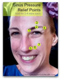 Relieve Sinus Pressure | Lindsay Rose Different from any I've used, but always worth a try ~ two fingers, two pounds of pressure (not heavy), for two minutes is standard