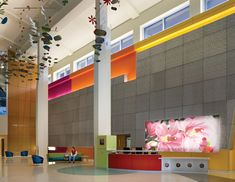 Children's Healthcare of Atlanta by Architect Stanley Beaman + Sears. Interior Design features and color palette by Tara Rae Hill, ASID, IIDA Healthcare Design, Clinic Design, Medical Design, Hospital Design, Small Study, Terrazzo Flooring, Environmental Graphics, Reception Areas, Childrens Hospital