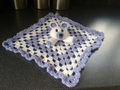 Baby blankie Security blanket Hand crocheted  'Boo by CrochetBox, £8.99