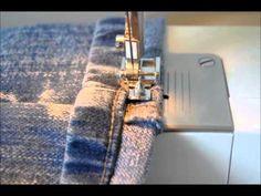 Bainha de calça jeans original por Gisele Cole | Cantinho do Video Costura em Roupas