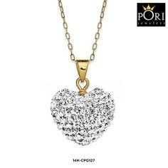 Pori 14-Karat Gold Pave Pendant Made with Swarovski Elements - Assorted Styles at 87% Savings off Retail!