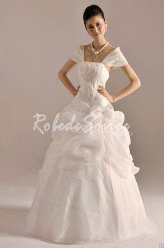 Robe de Mariée Avec Bretelles-Princesse Robe de Mariée Avec bretelles 2012 Blanc-Ivoire-Rose-Champagne