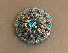 Sidonia's handmade jewelry - Superduo Lotus flower pendant..I LOVE her work!!!!