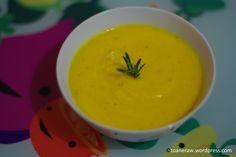 O supa crema cruda foarte buna facuta dupa o reteta din carteaBucataria bazata pe cruditati si alimente vii. Pentru o portie am pus o felie de dovleac (o cana de dovleac bucati) 3/4 cana de...