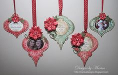 """""""Christmas Tags"""" using JustRite stamps and Spellbinders die templates."""