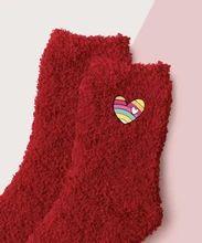 (1) Fuzzy Heart Slipper Sock – Pretty Feet Trinkets Bootie Socks, Slipper Socks, Slippers, Sock Ankle Boots, Cute Boots, Valentines, February 15, Pinterest Marketing, Womens Fashion