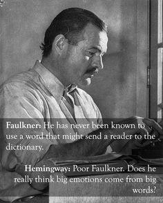 Earnest Hemingway vs. William Faulkner