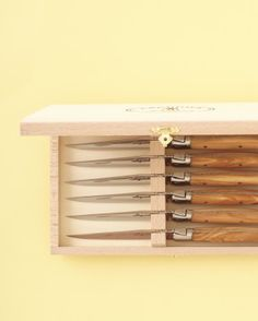 """""""Jean Dubost Laguiole Steak Knives""""  """"They're amazing for meat, and they pare veggies with gusto."""" (wineenthusiast.com)"""