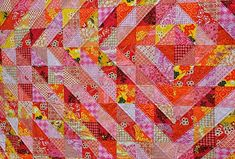 Aaaaaaaahhhhh .... back to my usual bright warm colours! I finally finished this quilt started way back last year. It has been sitting...