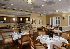 Casual dining room inside Atria Golden Creek in Irvine, California