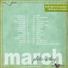 instagram challenge | March 2013 Instagram Challenge : Photo a Day Challenge. ... | Scrapbo ...