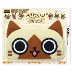 New Hori Nintendo 3ds XL LL Monster Hunter Airou Pouch Case Japan