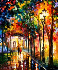 HARMONY by Leonid Afremov. GOOGLE HIM... My favorite artist ever. His paintings art so bright and beautiful. Found a website to buy prints of all his paintings at fineartamerica.com. I can not wait to get some for the apt!