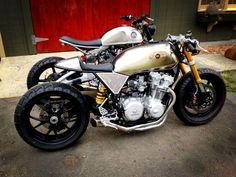 Modern style Honda caferacer, built by Classified Moto. Richmond, VA. Thx Mark Fergel