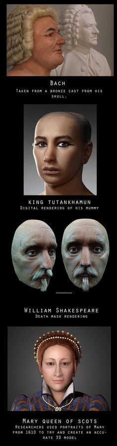 Amazing Facial Reconstructions of 13 Famous People in History. Now We've a Closer Idea What They Really Look Like