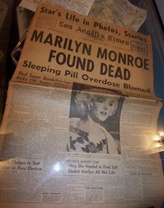 New Memorabilia on Display 50 Years after Marilyn's Death