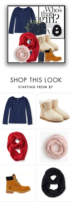 """""""look new year"""" by baby-jam on Polyvore featuring мода, UGG Australia, Old Navy, J.Crew, Timberland и Diane James"""