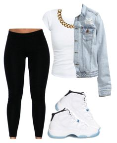 """Ootd.♡"" by prettygirlnunu ❤ liked on Polyvore featuring Club Manhattan and H&M"