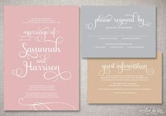 diy whimsical wedding invitations - Google Search