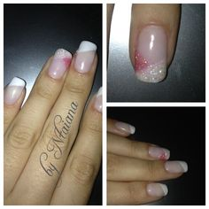 French manicure with sparkles! Cute!