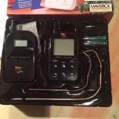 """Weil ich nun das iGrill2 benutze, verkaufe ich hier mein Maverick Wireless Barbecue Thermometer Set """"Black Edition""""Das Gerät ist natürlich benutzt, aber top in Ordnung, bis auf die üblichen Verfärbungen der Fühler sind keine Kratzer oder Beschädigungen vorhanden.Hier die Amazon-Beschreibung:Das ET-732 Black Wireless Barbecue Funk-Thermometer von Maverick ist der Nachfolger des beliebten ET-73 und unverzichtbar für jeden, der mit seinem Smoker indirekt grillen oder räuchern möchte.Mit zwei…"""
