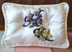 Embroidery ringpillow for wedding