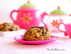 Healthy Toddler Cookies from teach. eat. love. I made these form my starving toddler (his choice, not mine) and he devoured them! I was out of oats so I used museli and I was too lazy to grate the carrots so I used unsweetened shredded coconut. I will make these again and again and again!