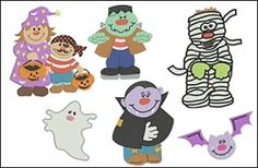 Halloween Filled Set- 6 Designs! 2 Sizes! | Featured Products | Machine Embroidery Designs | SWAKembroidery.com