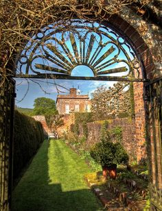 Garden path at Oare House, Wiltshire
