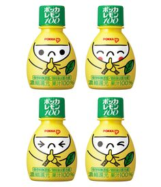 Lemon Juice / Pokka Lemon Ninjya #etiquette #bouteille #shrink #sleeves #bottle #labels #en #verre #plastique