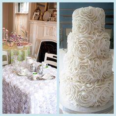 White Rosette Cake - Love