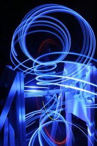 1.5 Toroid, prostorové kresby led diodami na anuloidu,model 1m, 2013