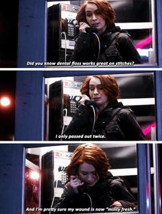 """[GIFSET] Charlie and her """"minty fresh wound"""" 10x18 The Book of the Damned"""