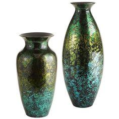 Pier 1 Foil Leaf Vases have timeless shapes with a modern pattern