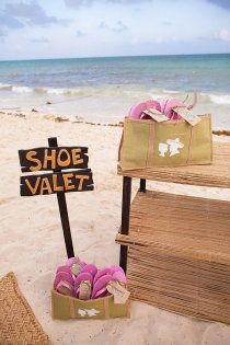 Love this beach wedding idea- could use for a backyard too..